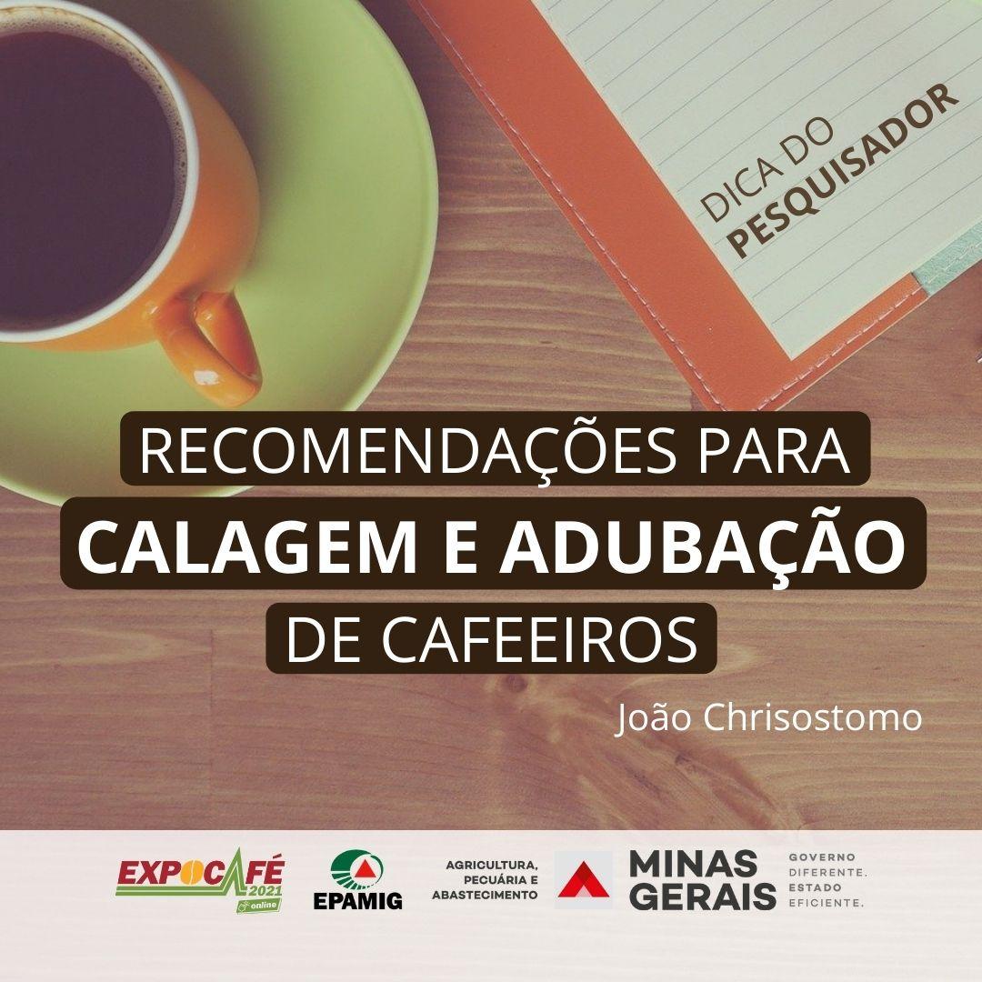 Recomendações para calagem e adubação de cafeeiros